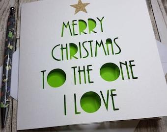 Merry Christmas To The One I Love, Christmas Card for Him, Christmas Card For Her, The One I Love, Husband Christmas Card, Wife Christmas