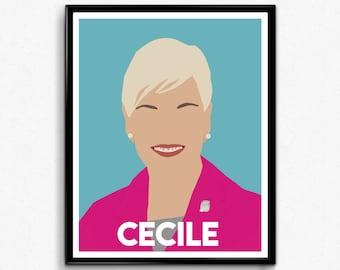 Cecile Richards Feminist Poster- Feminist Art, Wall Art Decor
