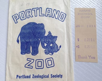 1966 Portland Zoo Small Paper Sack