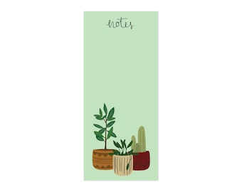 Cute Illustrated Notepad - Potted Plants Notes