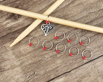 O Ring Stitch Markers, Heart Stitch Marker, Round Stitch Markers, Progress Stitch Marker, Gifts for Knitter, Knitting Tool, Snag Free