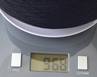 90% Merino Wool 10 Cashmere 2/26 Yarn Black