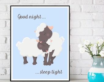 Nursery decor wall art, Children poster, Nursery quote art, Child room decor, Illustration art, Nursery art animals, Art print