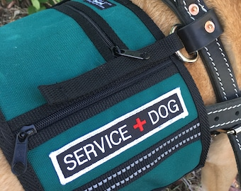 Service Dog cape / vest, made to attach on to a Guide, Mobility, Assistance or similar type dog harness that has D rings - VEST ONLY