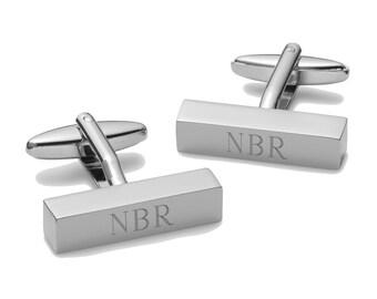 Personalized Cufflinks - Personalized Cufflink Bars - Engrave Bar cufflinks - Groomsmen Gifts - Monogrammed Cufflinks - GC798