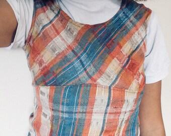 90s grunge check dress