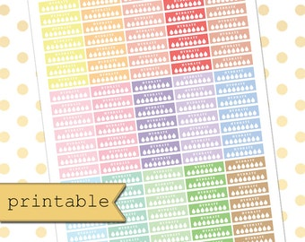 PASTEL Collection Printable Hydrate Planner Stickers/Planner Stickers for use with Erin Condren Life Planner/Happy Planner Stickers