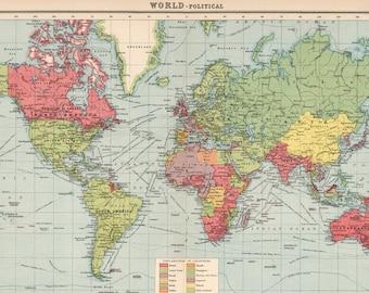 World map printable digital downloadntage world map old world map printable digital downloadntage world map high resolutionold world map gumiabroncs Gallery