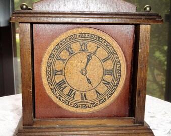 Vintage Clock Wood and Cork Coasters