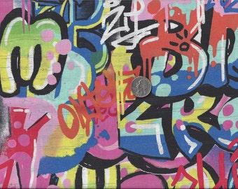 Tag You're It I Spy Graffiti Fabric Fat Quarter Alexander Henry