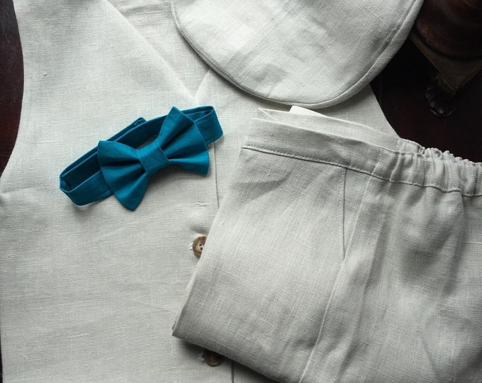 Boys Ring Bearer Set that includes Bow Tie, Vest, and Pants handmade by Two L Creations