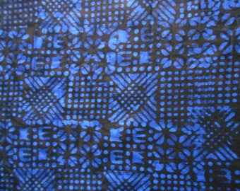 FABRIC INDIGO dyed hands 58 cm x 150 cm