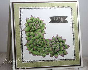 Hens and Chicks Card