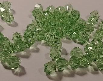 4 mm Lilac Swarovski Crystal Bicone  Beads