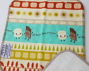 CLOTH WIPE - 3 pack - S'more,Camping,Campfire,Camp,Smore,Wipes,Baby Washcloth,Unpaper,Reusable Wipes, Washable Towel,Napkin, Baby Shower