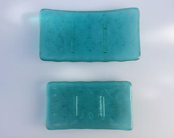 Turquoise, aqua, blue soap dish , soap holder