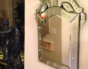 Perfect Victorian Age ETCHED  MIRROR, great in living room, bedroom, bathroom, entry.