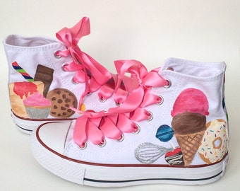Kids Cupcake Candy and Dessert Converse for Children