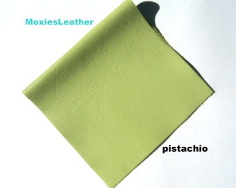 leather 12 x12 piece leather - choose size - pastel green leather - leather moxies