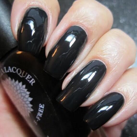 Pitch Black Nail Polish By Black Dahlia Lacquer Midnight
