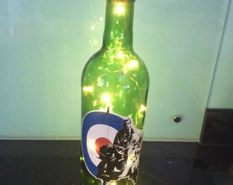 Decorated Wine Bottles - Scooter Decals with Lights Fathers day Gift