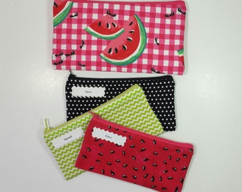 Kids Cash Envelope Wallet, Kids Cash Budget System, Give, Save, Spend -Watermelon- for use with the Dave Ramsey System, READY TO SHIP