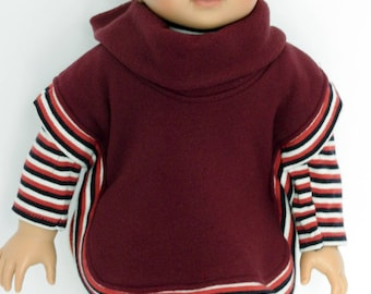 18 Inch Boy Doll Clothes Fleece Poncho fits AG Boy Doll