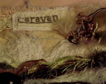 Tattered and Torn Junk Gypsy Caravan and Travelers BohemianWrist Cuff FREE SHIPPING Mde in USA