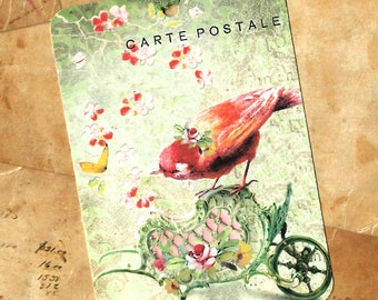 Tags, Gift Tags, Bird & Flowers, Birthday Tags, Bird Lover