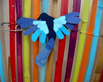 Blue Hummingbird magnet back