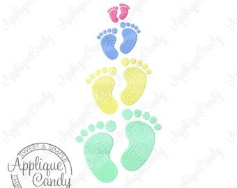 Baby Feet Solid Fill Machine Embroidery Design Digital File 1x1 2x2 3x3 4x4 foot print prints INSTANT DOWNLOAD