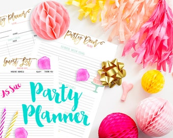 A5 Planner Size Party Planner Printable Inserts PDF for Filofax, Kikki K, Webster's Pages Color Crush, Carpe Diem, etc.