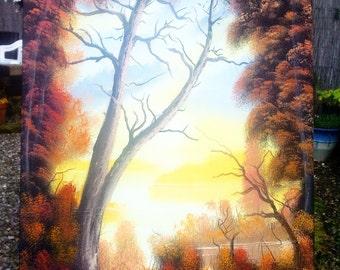 Yellow Autumn Scene