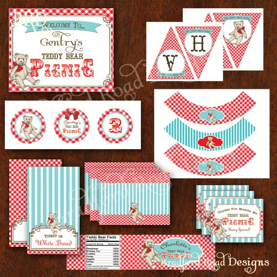 Teddy Bear Picnic Printable Party Teddy Bear Party Banner