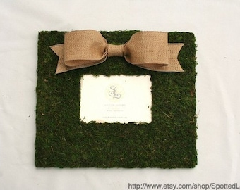Country French 12x14 picture frame with 5x7 picture insert and Burlap Bow