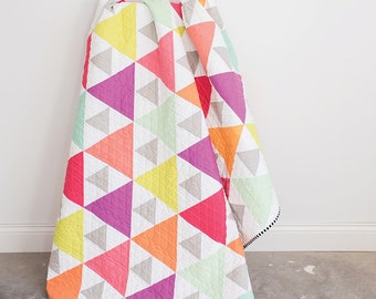 Triangle Peaks Quilt Kit - by Quilty Love in Cotton and Steel Pigment Fabrics