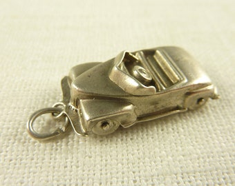 Antique Sterling and Rhinestone Large Moving Convertible Charm