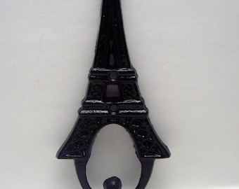 Eiffel Tower Cast Iron Classic Black Wall Hook French Shabby Elegance Design Art Decor Paris Coat Jewelry Towel Hat Leash Key Mudroom Hook