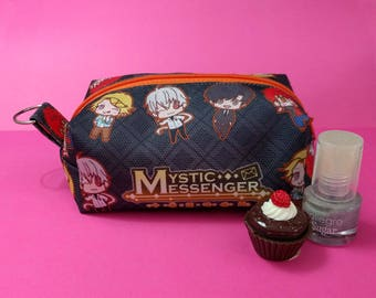 Cute Mystic Messenger Mini Cosmetic Case Zipper Pouch Bag Make up Anime