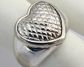 SaLe! sALe! Heart Ring Sterling Silver