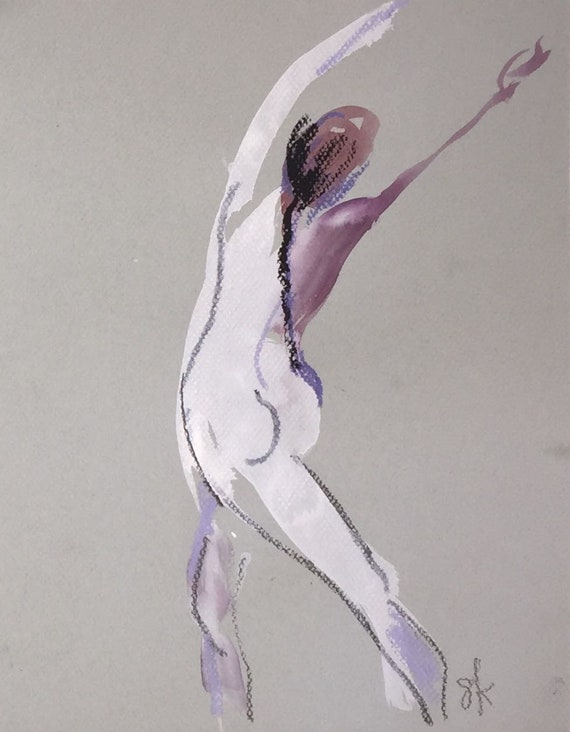 Nude painting of One minute pose 112.5 ,nude art, original, gesture sketch by Gretchen Kelly