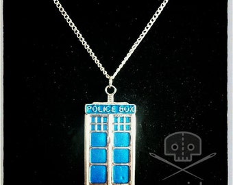 Doctor Who- Inspired TARDIS/Police Box Necklace