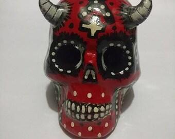 Moldable Resin Skull Halloween devil