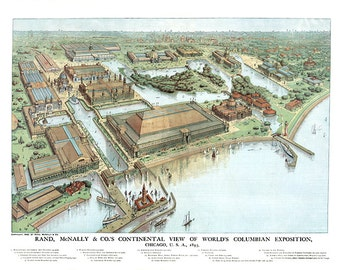 Chicago's World's Columbian exposition, Chicago, U.S.A., 1893,  400th anniversary of the discovery of America by Columbus.  Reproduction.