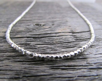 Silver Bead Necklace, Hill Tribe Silver Necklace, Silver Boho Necklace, 25 Anniversary, 16-36 inch, Women Necklace, Women Gift, Silver Gift