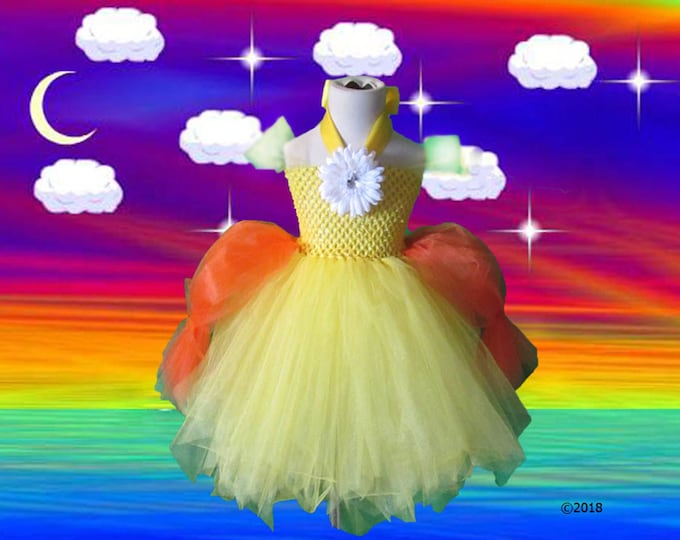 Princess Daisy Inspired Tutu Dress