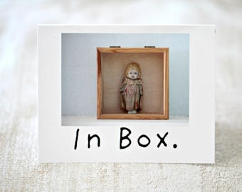 Adventures Claudia Porcelain Doll In Box Funny Card Silly Stationary (1)