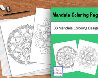 Mandala Coloring Pages - Set of 30