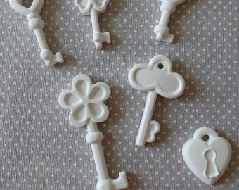 Chalks chalks pz50 padlock key anniversary wedding favor confirmation communion baptism placeholder craft mydastore