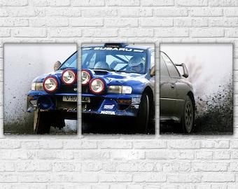Subaru Impreza Rally 3 Piece Canvas Set